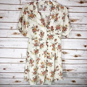 Forever 21 Cream Floral Dress